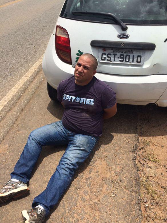 Bruno Cesar pediu carro emprestado ao amigo frentista para cometer o roubo com os comparsas.